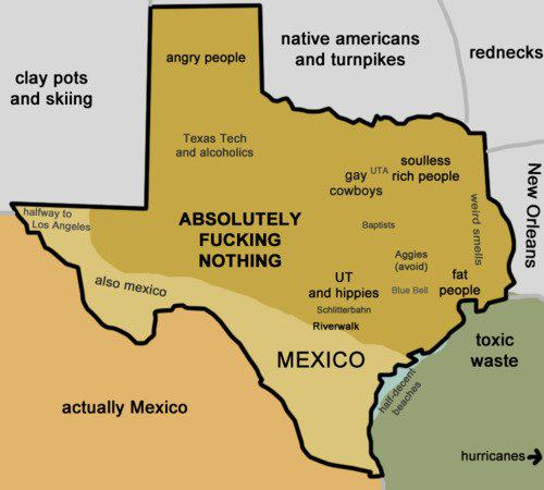 Another New Yorker View Of The Us Stereotyping Map Of Texas