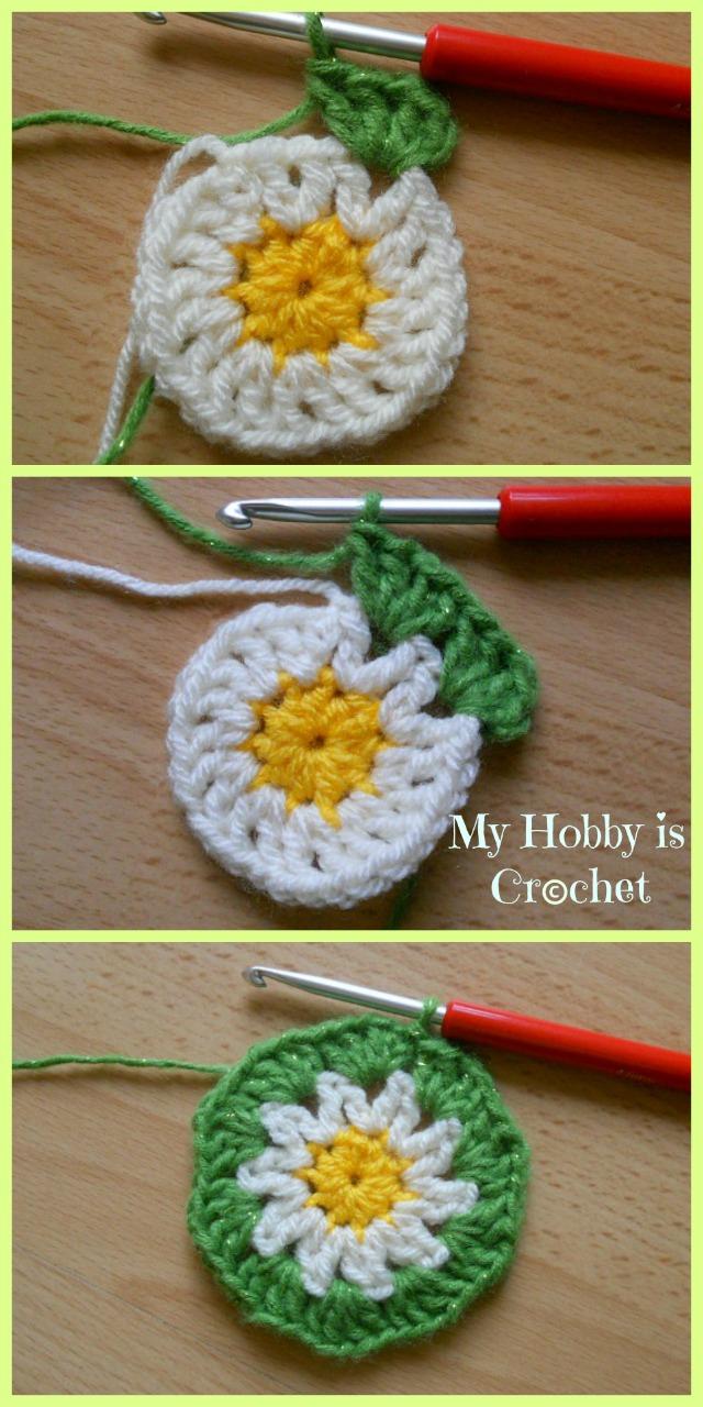 My Hobby Is Crochet: Crochet Daisy/Flower Coaster - Free Pattern ...