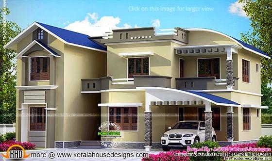 Modern mix house elevation