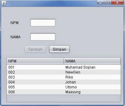 New generation belajar java 2 input data ke database for Input keyword disini perbaris ya