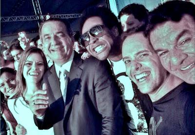 Da esquerda para direita: Ezenete Rodrigues, Ana Paula Valadão, Thalles Roberto, André Valadão e Jabes Alencar