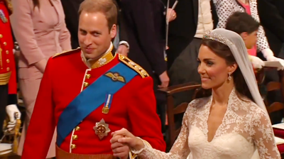 The weds, Prince William knowing smile. YouTube 2011.