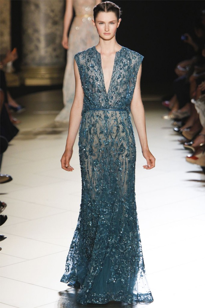 Elie saab haute couture fall winter 2012 2013 blonde for Haute couture seamstress