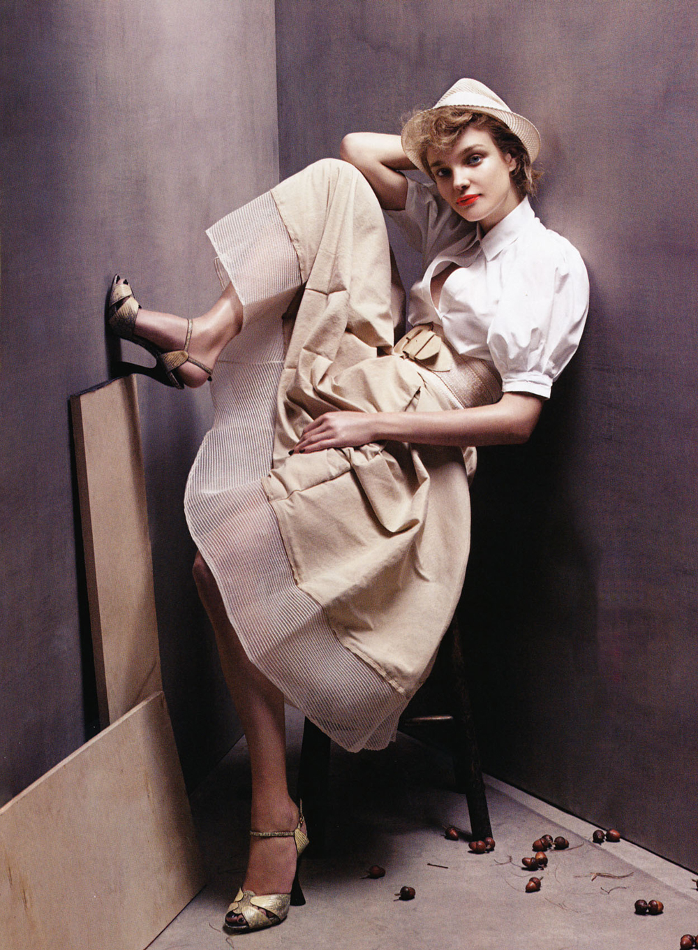 Peerless Natalia Vodianova wearing Donna Karan in Vogue US January 2008 (photography: Steven Meisel, styling: Grace Coddington) via www.fashionedbylove.co.uk