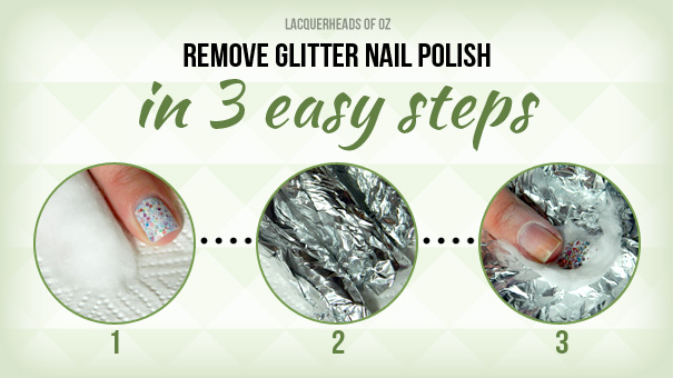 How to remove glitter - The foil method