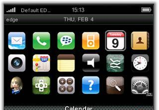 iPhone iPhone for BlackBerry Curve 8520 Themes