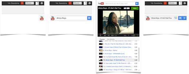 youtube slider on google+