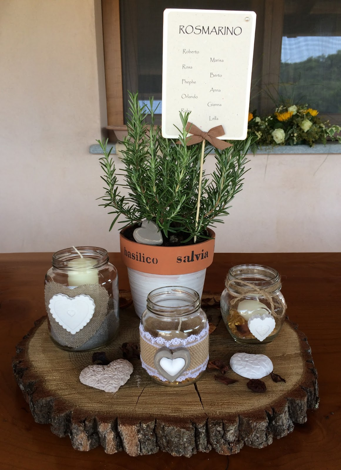 Matrimonio Rustico Centrotavola : Lumaca matta handmade with love allestimento matrimonio