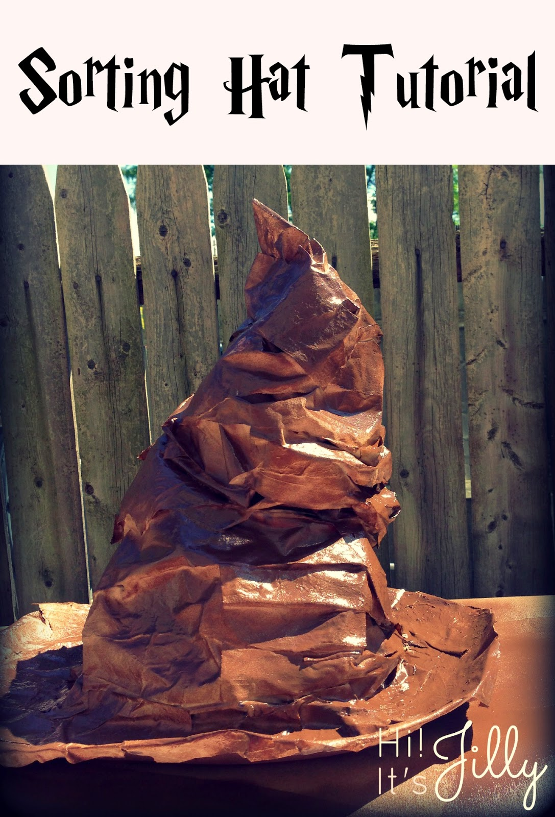 Sorting Hat Tutorial. It looks so awesome! #harrypotter #sortinghat #tutorial