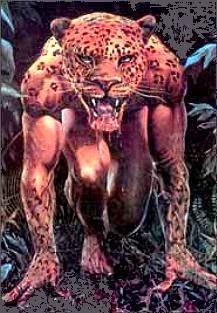 El Yaguareté-Abá (Hombre Jaguar), se dice que es un brujo con la capacidad de convertirse en Jaguar.