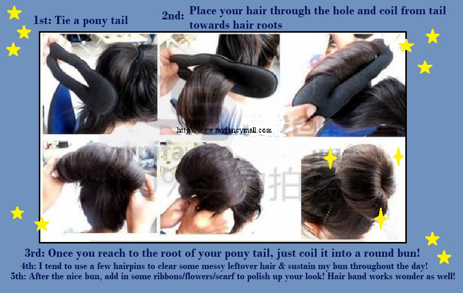 how to use a thong as a hair tie