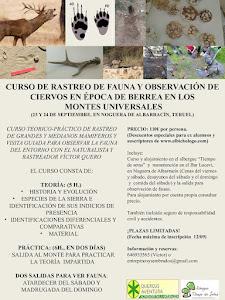 CURSO TEÓRICO PRÁCTICO DE RASTREO DE HUELLAS CON VISITA GUIADA A LA BERREA (2017)