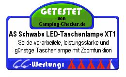 CC-Testsiegel Taschenlampe XT1