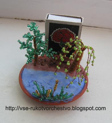 бисероплетение деревья и цветы схемы