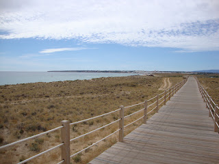 Salgados Beach wooden footbridge photo - Algarve