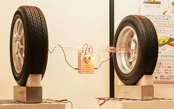 Veículo elétrico recebe energia pelos pneus