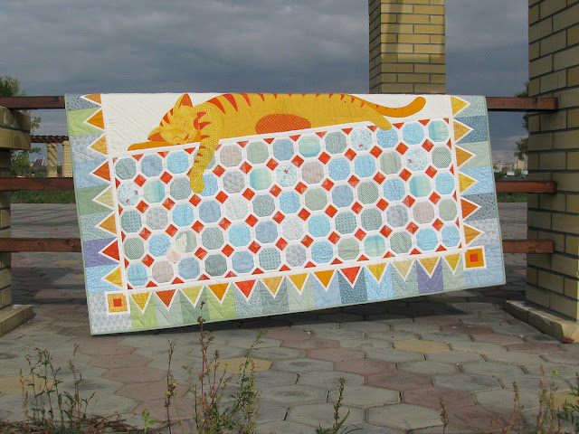 детское лоскутное одеяло Цветные сны. Анна Шеин