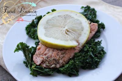 Rosemary Citrus Salmon & Kale