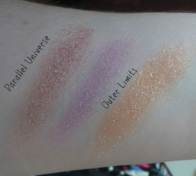 NARS Christopher Kane-Parallel Universe and Outer Limits swatches