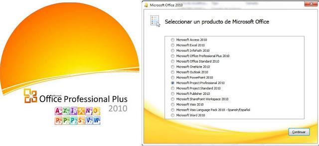 OFICCE2010 Microsoft Office 2010 SP1 FULL + Visio + Project 2010 [Español] [Todas las versiones 32/64 bits]