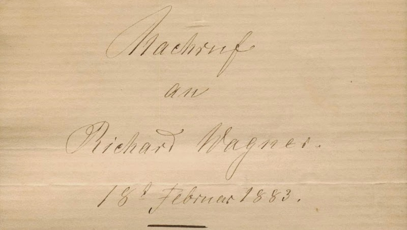 Mathilde Wesendonck: Nachruf an Richard Wagner. 18. Februar 1883