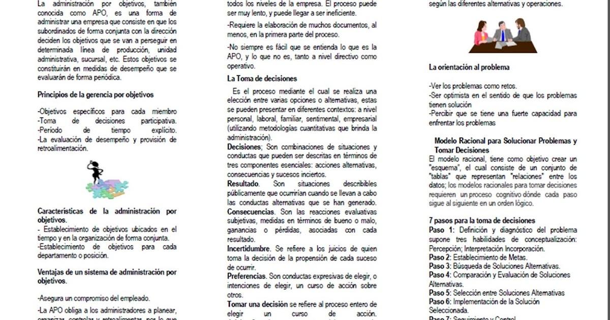Procesos Administrativos: Administración por Objetivo y Toma de ...