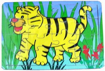 puzzle binatang little tiger