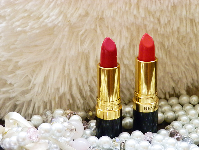 Revlon Super Lustrous Lipsticks Fire & Ice and Cherries in the Snow