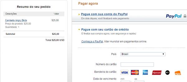 como vender pelo facebook com paypal página de pagamentos