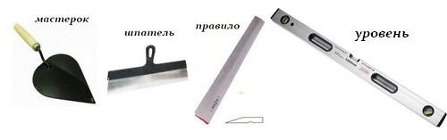 Необходимые инструменты для выравнивания стен