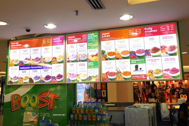 Various flavours are available at the Boost Juice Bars outlets