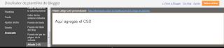 Agregar CSS desde el diseñador de plantillas