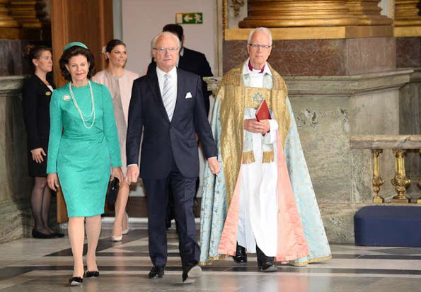 Sweden Royal Family Attends 'Te Deum' Service At The Royal Chapel