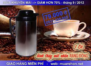 Bình thủy inox Rạng Đông (1 lít) giá sốc: 79. 000đ [shop muarehon. net]