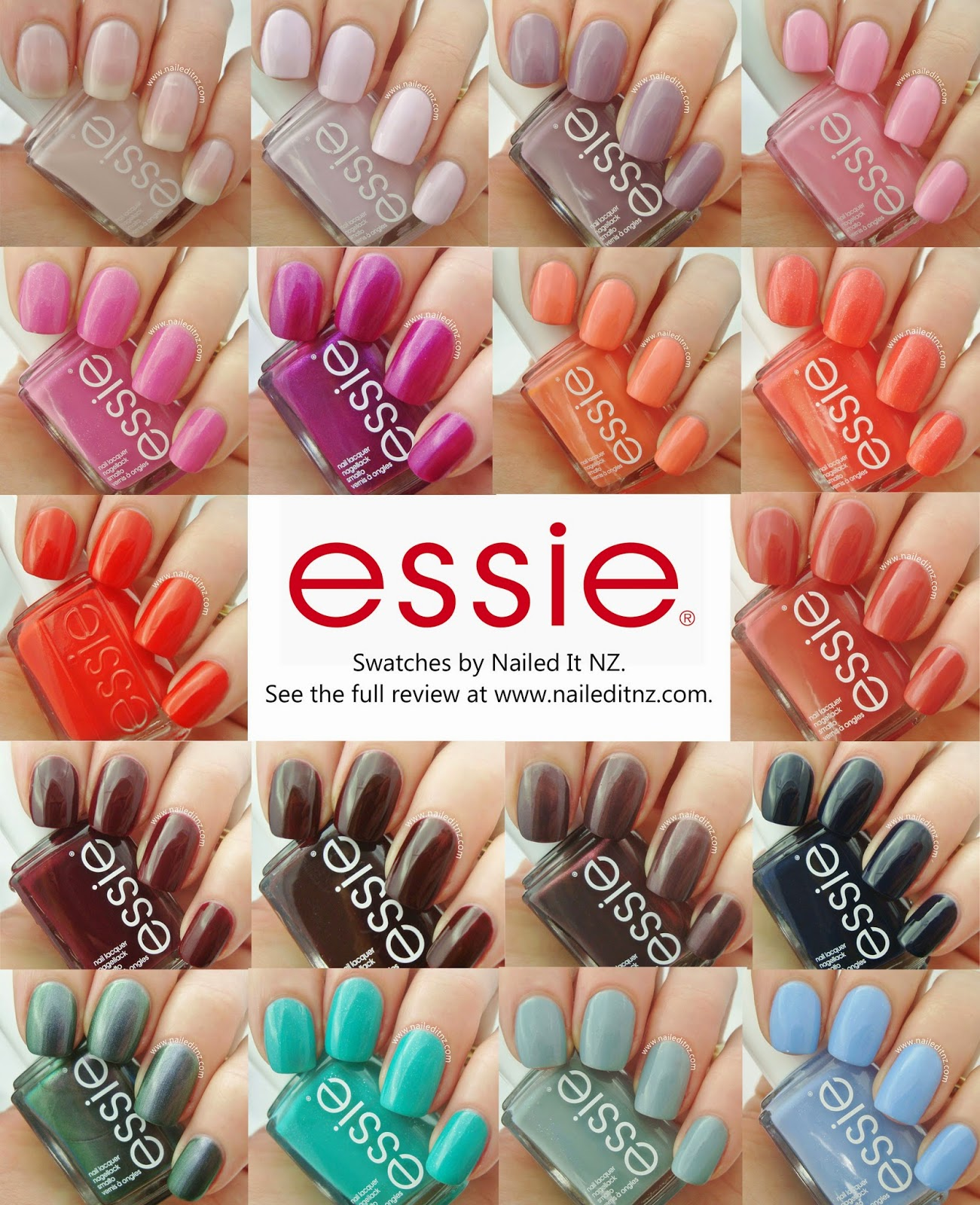 Essie Nail Varnish Swatches- HireAbility