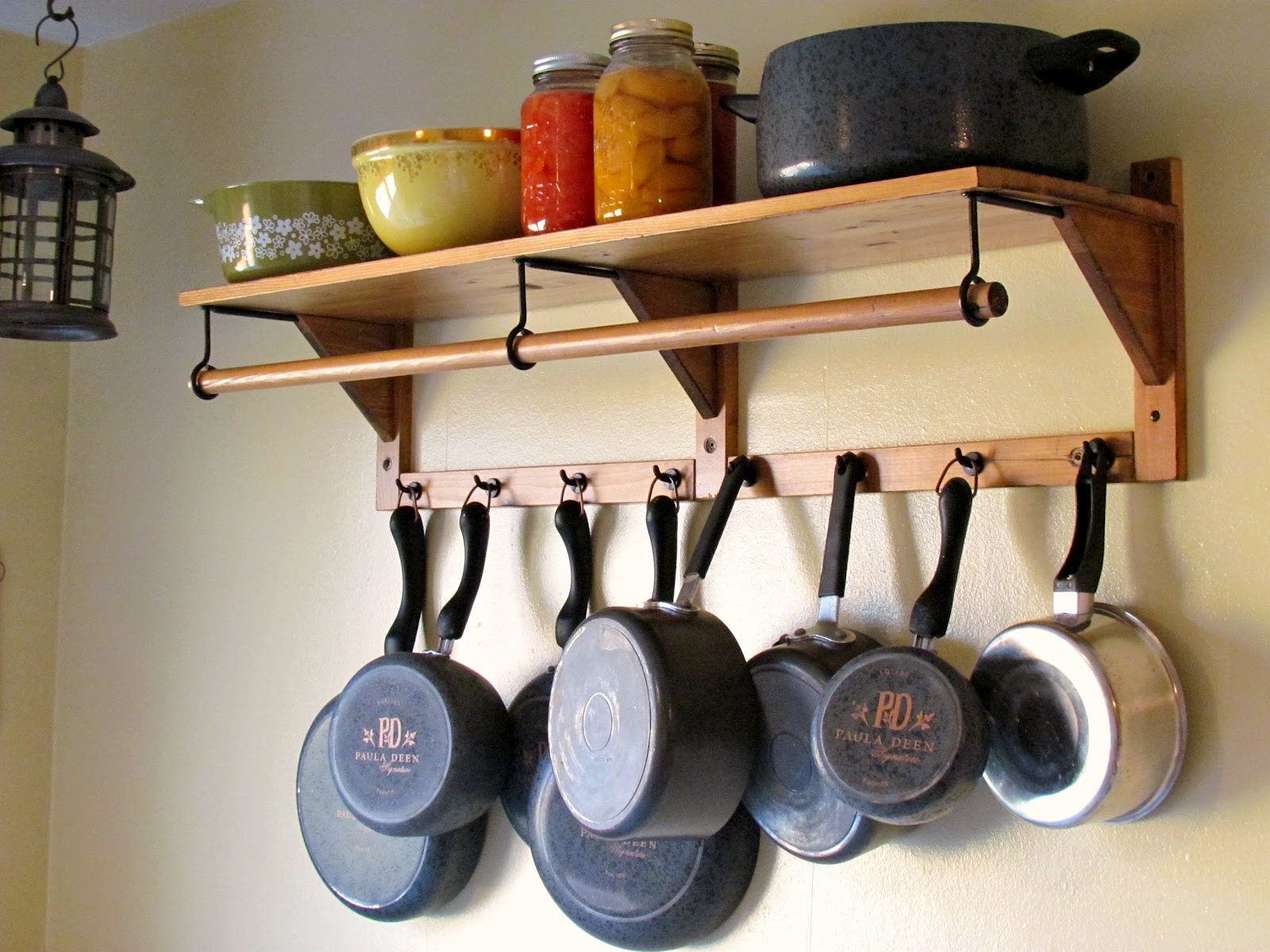 outstanding small space solutions the pot rack uniquely you, Kitchen design