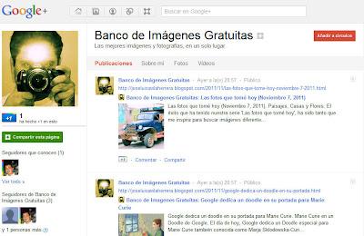 Únete a nuestra página de fans en Google+