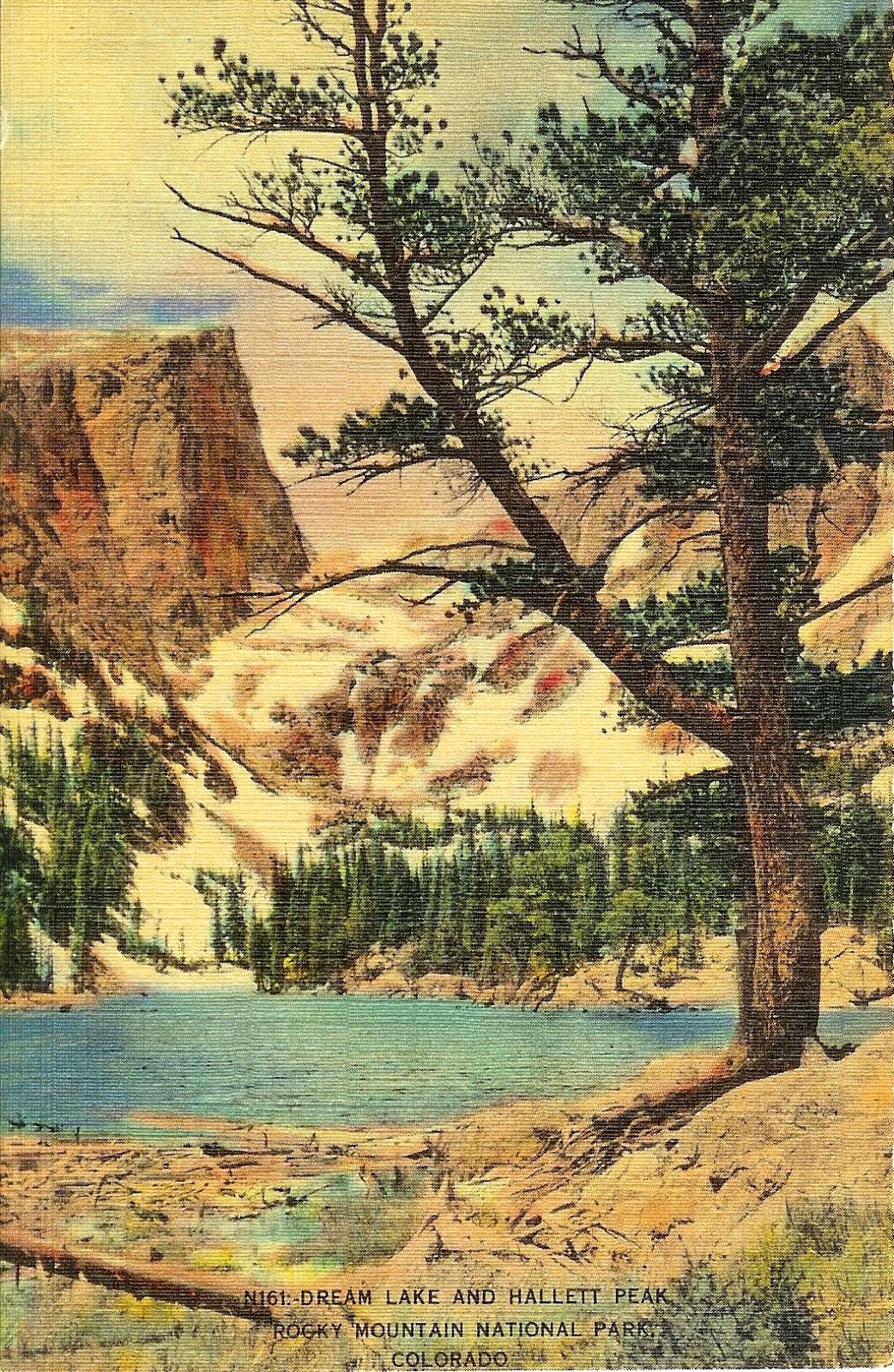 Writerquake Old Postcard Wednesday Dream Lake And