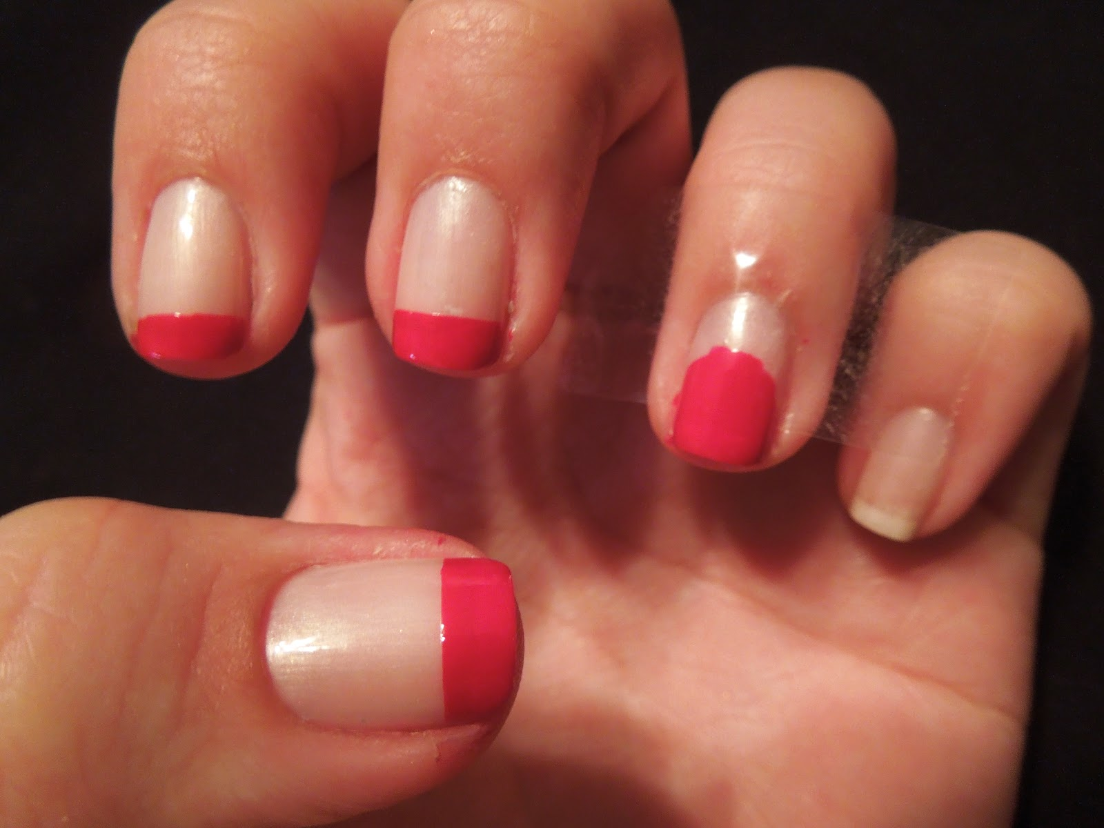 Pretty In Polish: Red French with a bow!