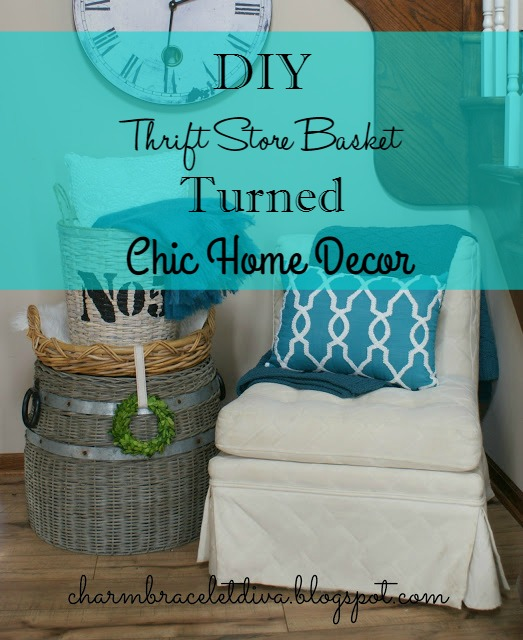 THRIFTY to CHIC STENCILED BASKET