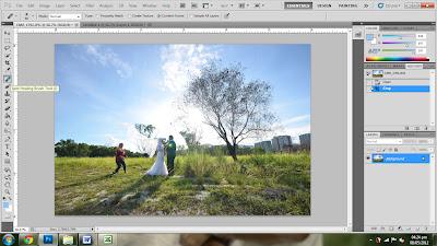 Tutorial Photoshop : Hilangkan subjek dan dapat latar belakang asal