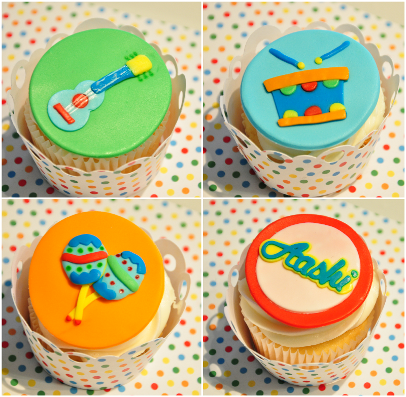 Baby Jam: A Music Inspired 1st Birthday Party Cupcakes