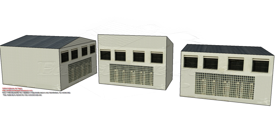 Another new façade for your paper model factories
