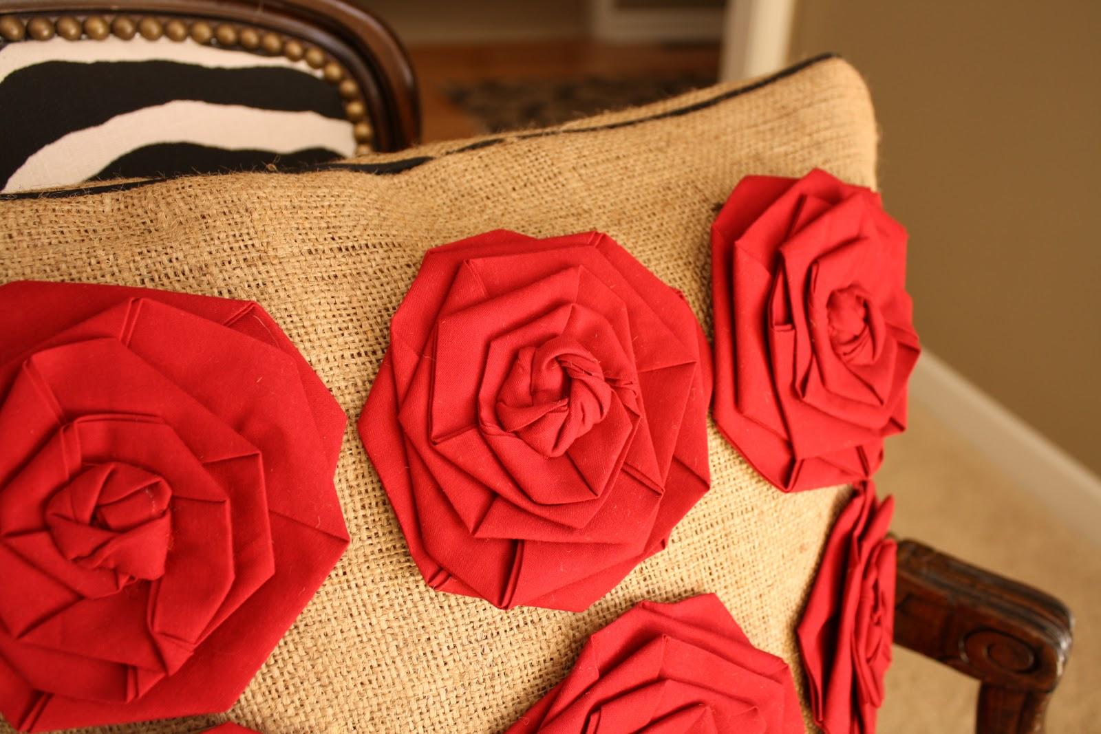 Сшить розу из ткани