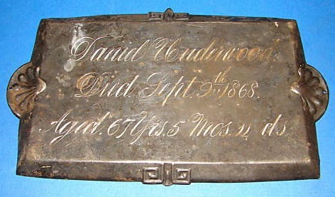 Daniel Underwood Coffin Plate