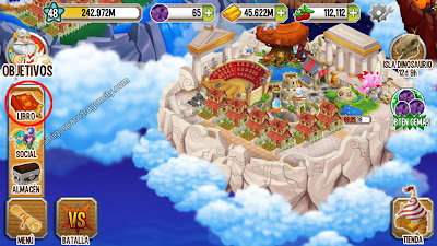 imagen de la actualizacion del libro de dragones en dragon city ios