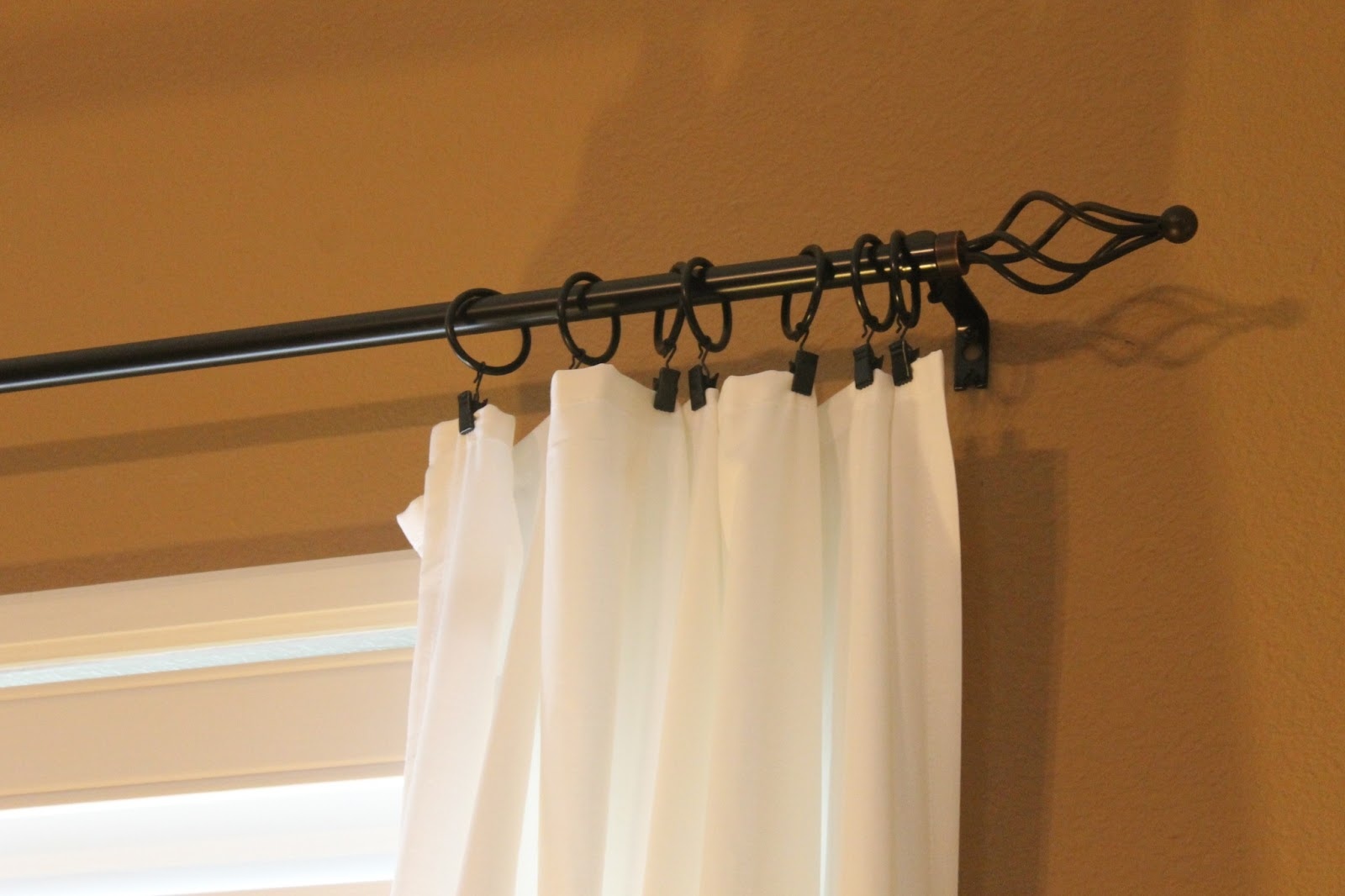 Clean Shower Curtain Liner Vintage Curtain Rings