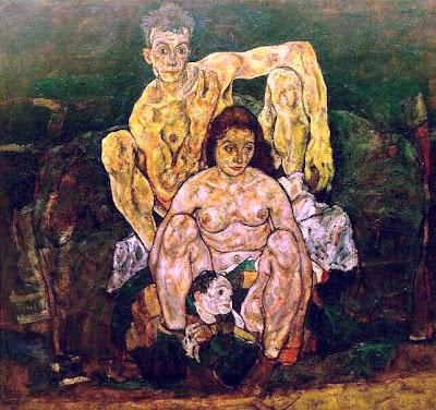 Egon Schiele - La famille,1918