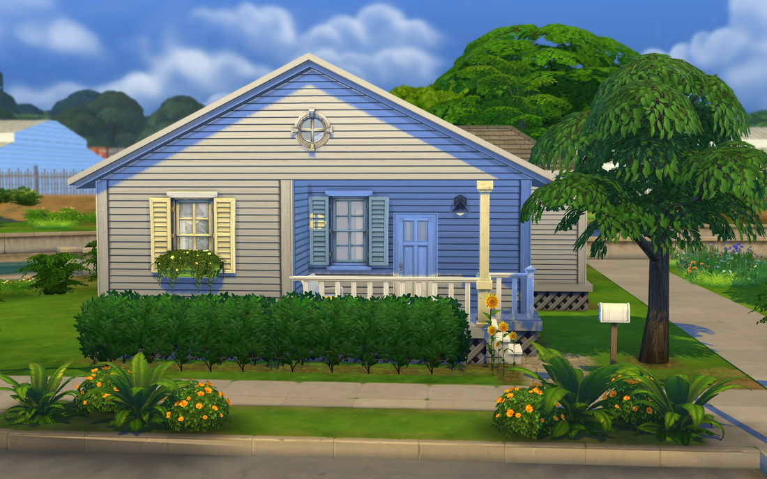 My sims 4 blog sunflower cottage starter home by tiki for Minimalist house the sims 4