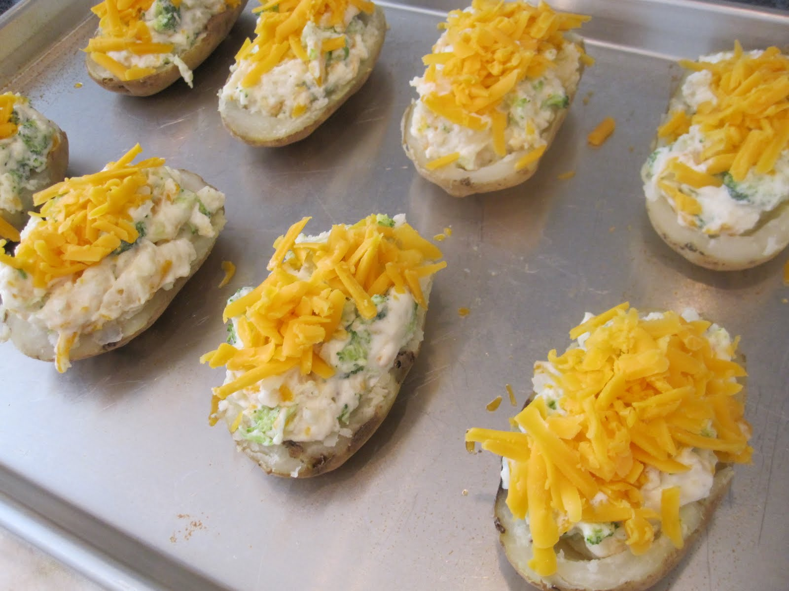 Broccoli and Cheese Twice Baked Potatoes - Life In The Lofthouse